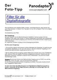 Der Foto-Tipp Filter für die Digitalfotografie - Panodapter, Jens Kestler