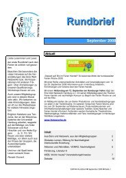 September 2008 Rundbrief - Eine Welt Netzwerk Hamburg eV