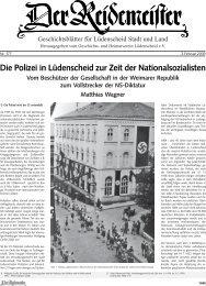 Die Polizei in Lüdenscheid zur Zeit der Nationalsozialisten