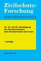 Zivilschutz-Forschung - Neue Folge Bd.42 - - Schutzkommission