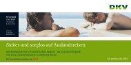 PDF-Datei: Auslandsreisekrankenversicherung ReiseMed ... - DKV