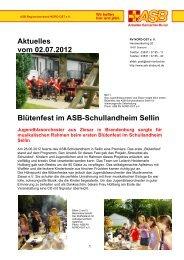 Infos dazu: HIER! - ASB Schullandheim Sellin