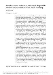 Distribuzione e preferenze ambientali degli anfibi urodeli nel