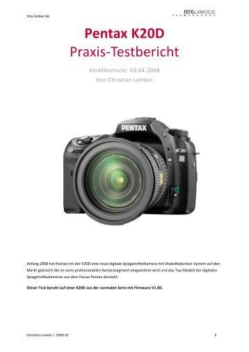 Pentax K20D Praxis-Testbericht - foto.lamker.de - Christian Lamker