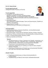 Prof. Dr. Robert Kohler - Hochschule - Hochschule Reutlingen