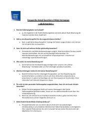 Häufige Fragen zur Bewerbung - Hubert Burda Media