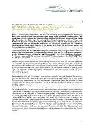 Download: Pressemitteilung 08/2010 - Diätverband eV
