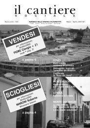 VENDESI SCIOGLIESI - Il Cantiere Sociale