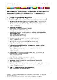 Adressen und Internetlinks zu Studien, Praktikums - der Mitarbeiter ...