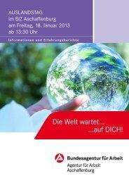 Auslandstag im BiZ Aschaffenburg - Bundesagentur für Arbeit