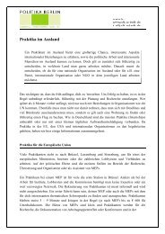 Praktika im Ausland - Politika Berlin