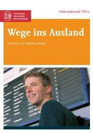 Wege ins Ausland - International Office - Technische Universität ...