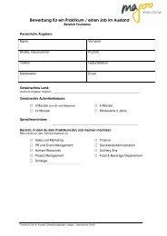 Bewerbung für ein Praktikum / einen Job im Ausland - magoo ...