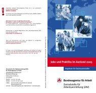 Jobs und Praktika im Ausland 2005 - DGB-Jugend