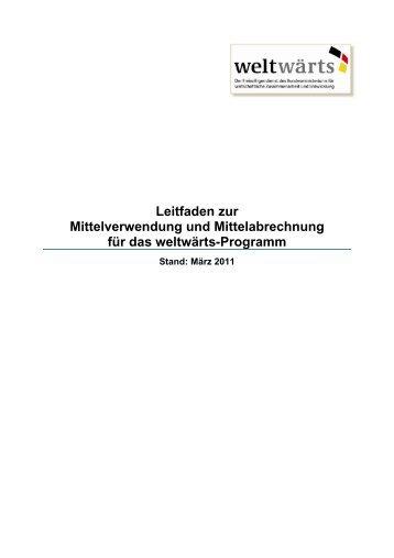 Leitfaden zur Mittelverwendung und Mittelabrechnung ... - Weltwärts