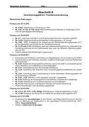 Fachliche Hinweise KV/PV - Abschnitt A - Versicherungspflicht