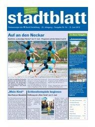 """Lebendiger Neckar"", 17. Juni 2012, 11 bis 19 Uhr - Stadt Heidelberg"