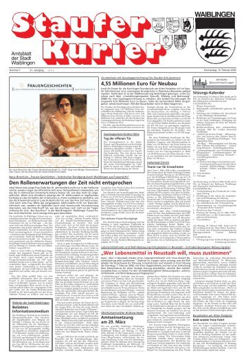 Ausgabe Nr. 7 (Do, 16. Februar 2006) - Stadt Waiblingen