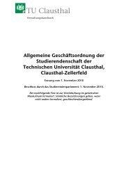Allgemeine Geschäftsordnung der ... - TU Clausthal