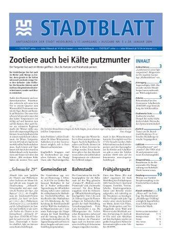 Ausgabe 5 vom 28. Januar 2009 - Stadt Heidelberg