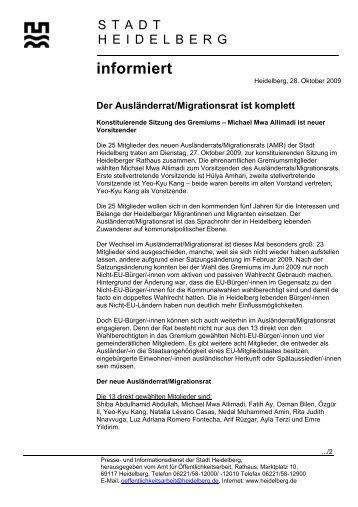 informiert - Stadtpolitik Heidelberg