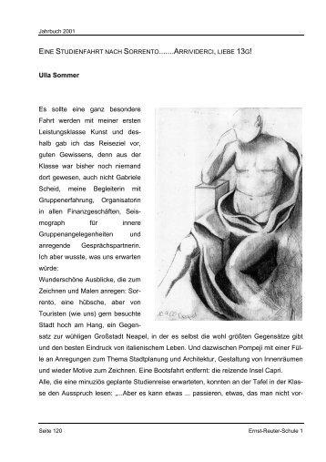 eine studienfahrt nach sorrento - Ernst-Reuter-Schule 1
