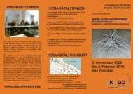 3. November 2009 bis 2. Februar 2010 ehs Dresden - Arbeitskreis ...