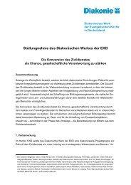 Stellungnahme des Diakonischen Werkes der EKD - Diakonie ...