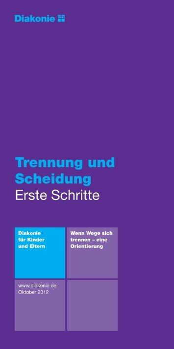 Trennung und Scheidung Erste Schritte - Diakonie Deutschland