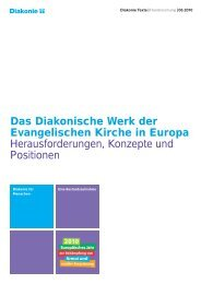 Das Diakonische Werk der Evangelischen Kirche in Europa ...