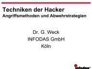 Techniken der Hacker — Angriffsmethoden und Abwehrstrategien