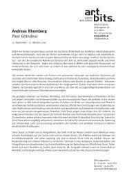 Andreas Rhomberg Past Grandeur - Artbits - Galerie & Edition