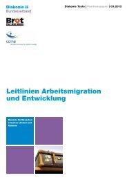 Leitlinien Arbeitsmigration und Entwicklung - Diakonie Deutschland