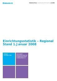 Einrichtungsstatistik - Diakonie Deutschland