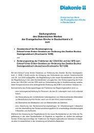 Stellungnahme des Diakonischen Werkes der Evangelischen Kirche ...