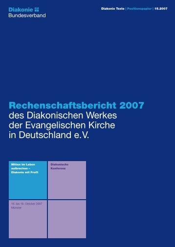 Rechenschaftsbericht - Diakonie Deutschland