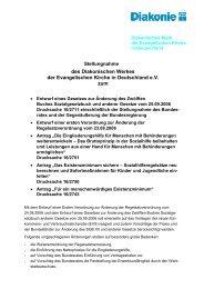 des Diakonischen Werkes der Evangelischen Kirche in Deutschland ...