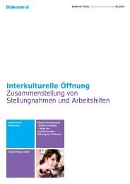 Interkulturelle Öffnung - Diakonie Deutschland