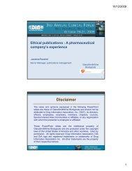 Ethical publication -  Drug Information Association