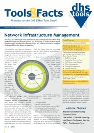 Network Infrastructure Management & Tools Facts - dhs ELMEA tools