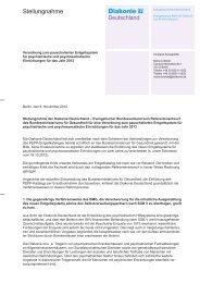 Stellungnahme zur Verordnung zum pauschalierten Entgeldtsystem ...