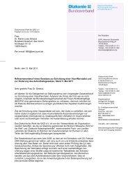 Stellungnahme (PDF, 126 KB) - Diakonie Deutschland
