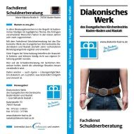 Flyer Schuldnerberatung (pdf) - Diakonisches Werk des ...