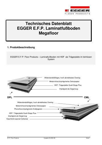 Technisches Datenblatt EGGER E.F.P. ...   Megaparkett