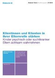 Diakonie-Text 07.2012: Klientinnen  und Klienten in ihrer