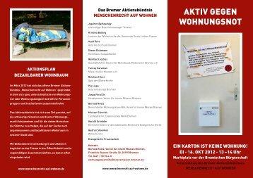 AKTIV GEGEN WOHNUNGSNOT - Diakonie in Bremen