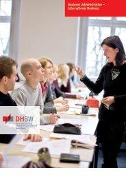 Business Administration – International Business - DHBW Ravensburg