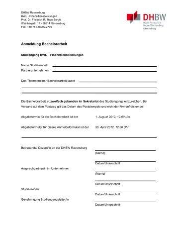 Bewertung Der Studienarbeit Bachelorarbeit Dhbw Karlsruhe
