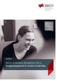 Designmanagement & Creative Leadership - DHBW Ravensburg