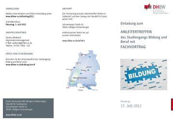 DHBWVS Flyer Fachvortrag Anleitertreffen Bildungun..., Seiten 1-2